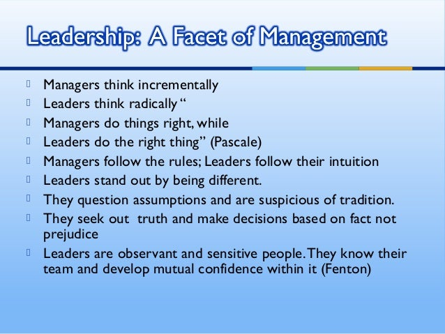 leadership and management styles in the