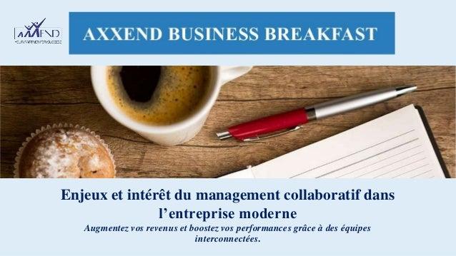 Enjeux et intérêt du management collaboratif dans l'entreprise moderne Augmentez vos revenus et boostez vos performances g...