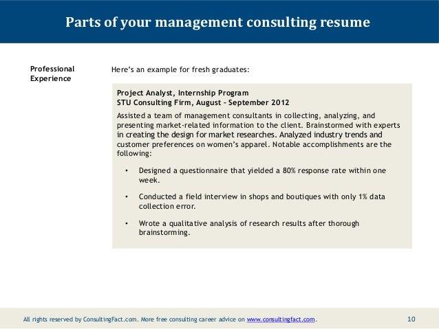 Selected graduate work resume