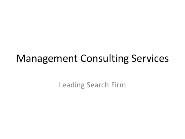 Management consulting services profile