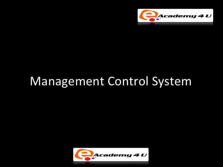 Management Control System: Definition, Characteristics and Factors