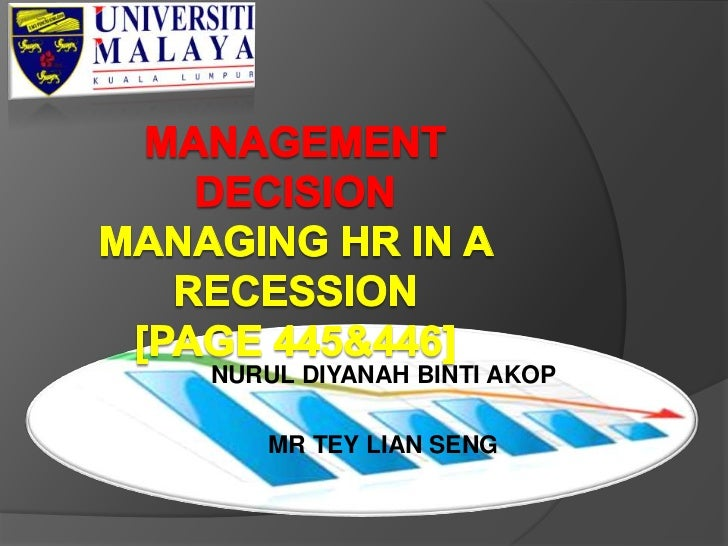 Managing HR In A Recession