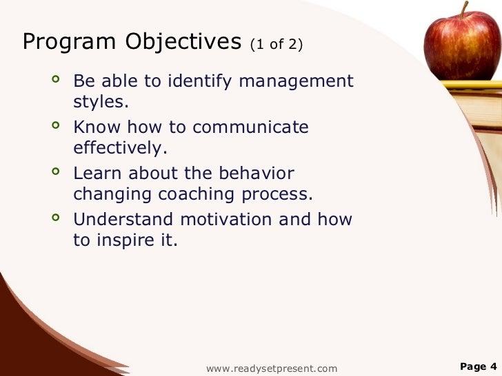 Management development training ppt