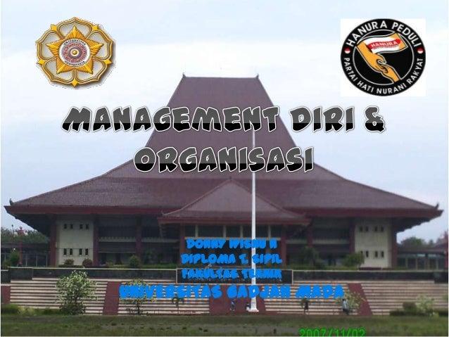 Management diri dan organisasi i