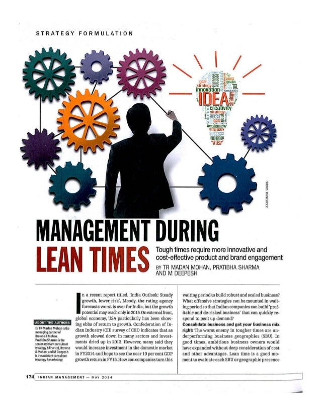 Management During Lean Times