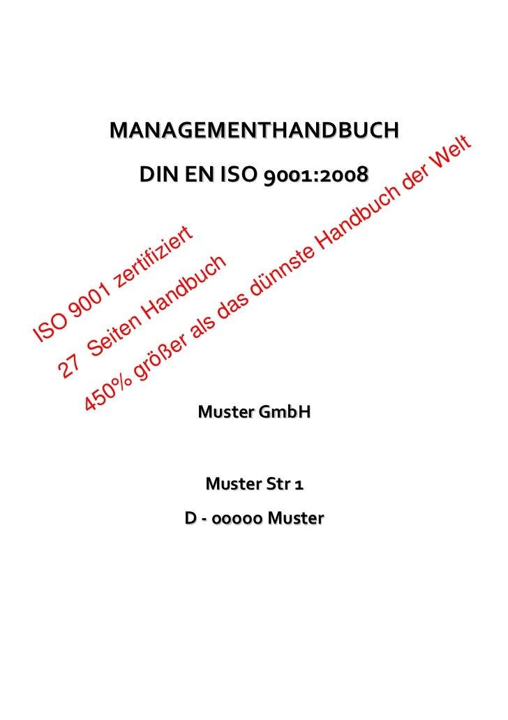 MANAGEMENTHANDBUCH                                                              elt             DIN EN ISO 9001:2008      ...