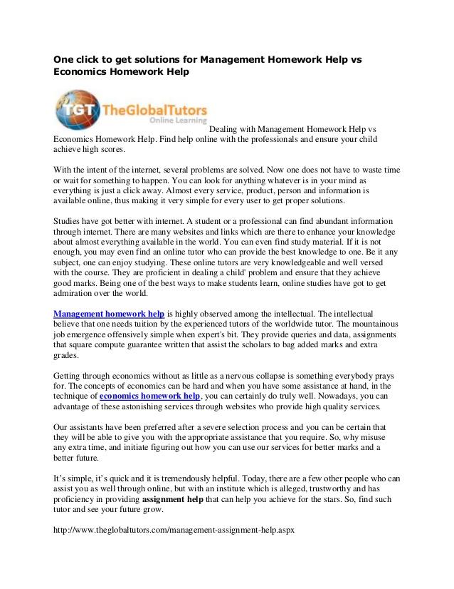 Economics Homework Help | The Princeton Review