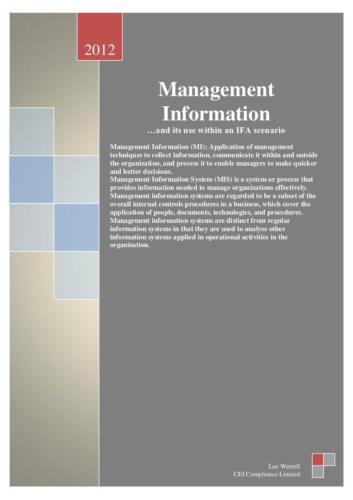 Management information v1 6