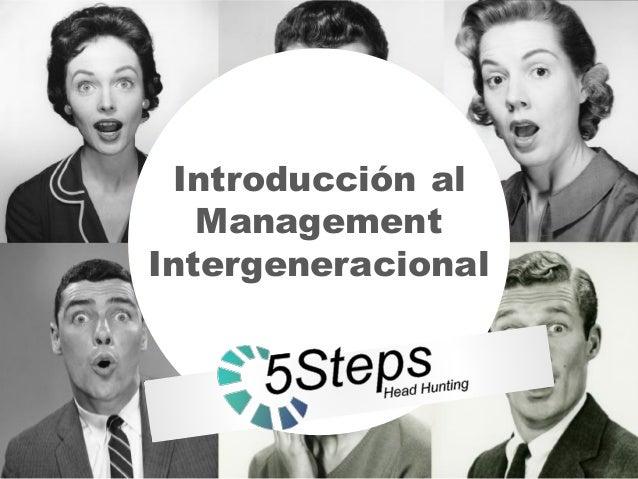 Introducción al Management Intergeneracional