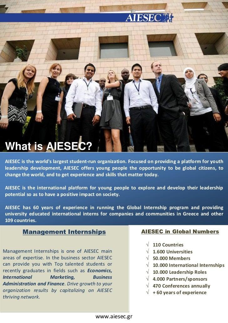 AIESEC Management internships for partners