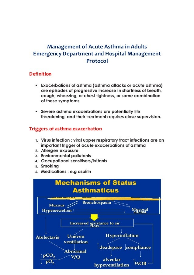 88290212 acute asthma 2 After discharge from the hospital, approximately 10-20% of patients treated for acute asthma will relapse within 2 weeks of discharge this may be due to unresolved inflammation causing continued airway sensitivity to inhaled irritants.