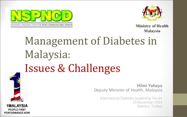 Management of diabetes in malaysia, istanbul 2013[final]