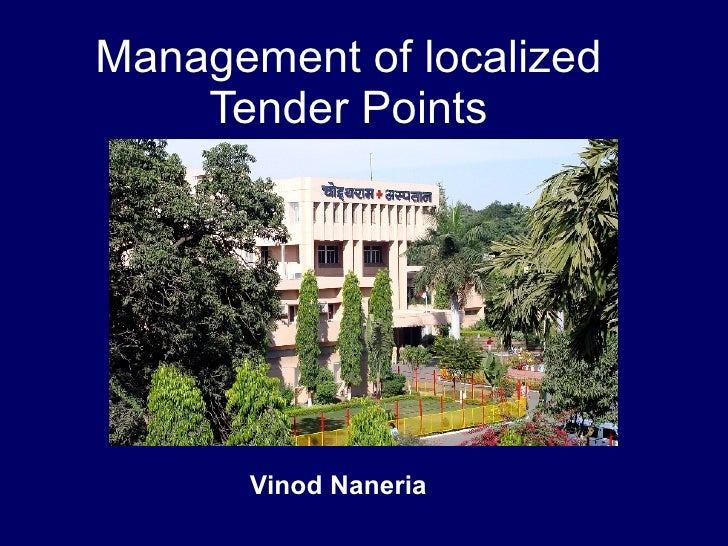 Management Of Localised Tender Points