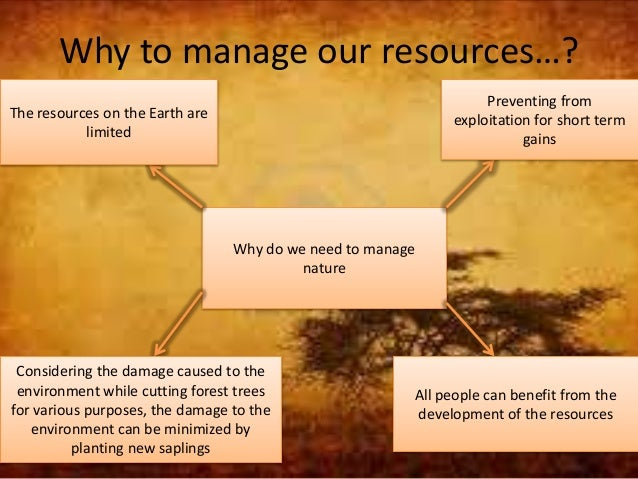 Management Of Natural Resources Notes