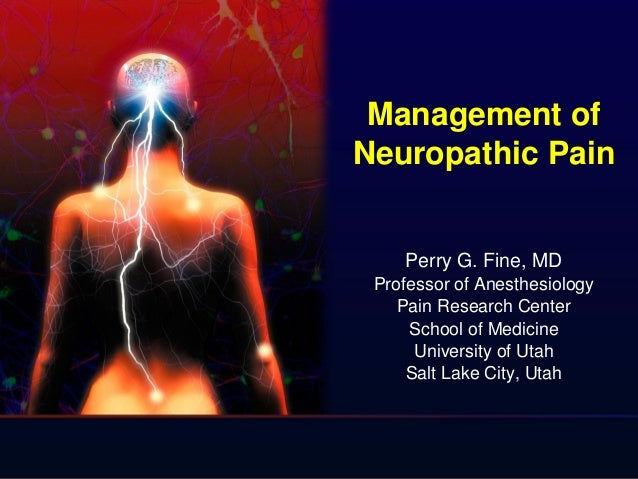Management of Neuropathic Pain Perry G. Fine, MD Professor of Anesthesiology Pain Research Center School of Medicine Unive...