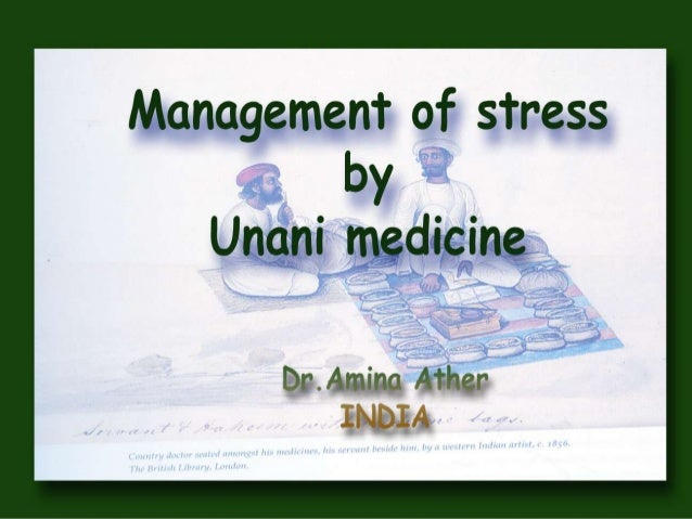 Management of stress