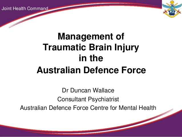Management of traumatic brain injury  Wallace