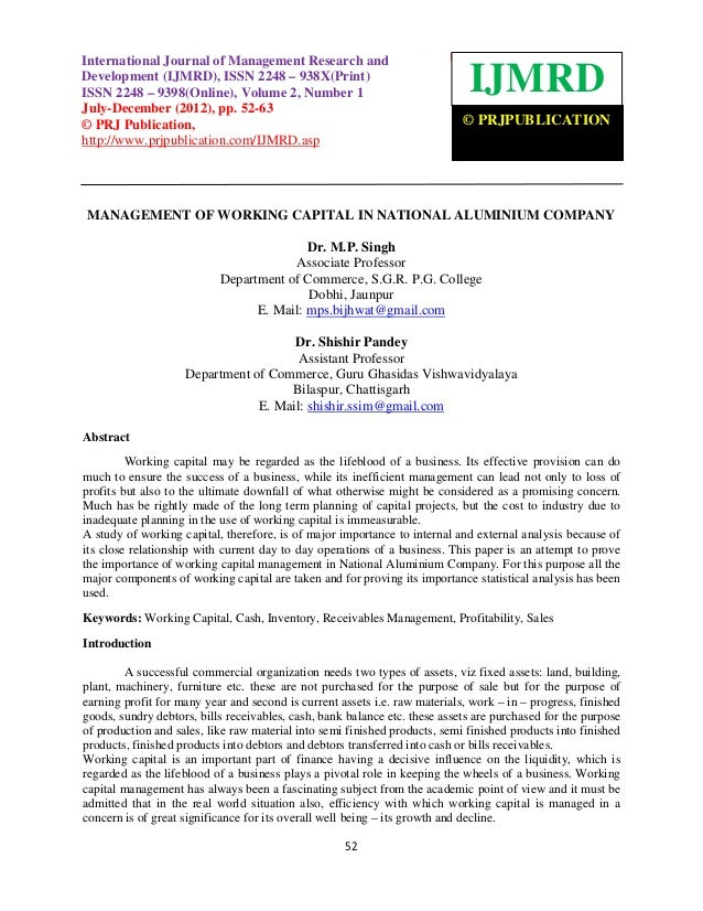 International JournalManagement Research and Development (IJMRD), ISSN 2248 – 938X(Print) ISSNInternational Journal of of ...