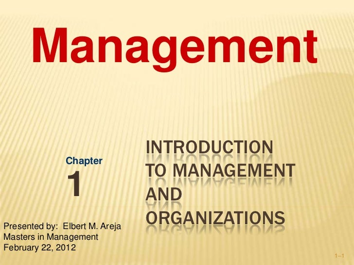 Management                                INTRODUCTION               Chapter                                TO MANAGEMENT ...
