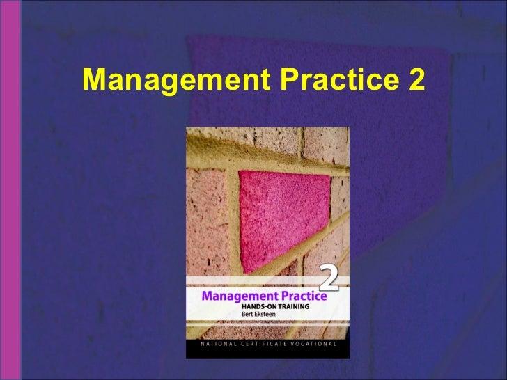 Management Practice 2