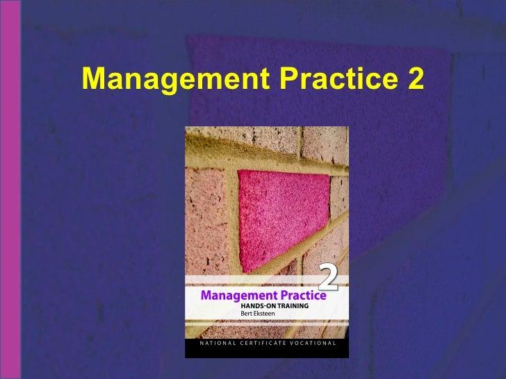 NCV 2 Management Practice Hands-On Support Slide Show - Module 2