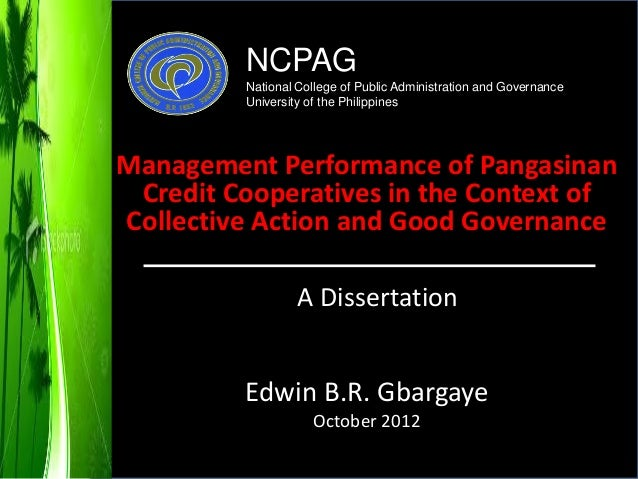 Management Practices of Pangasinan Credit Cooperatives in the Context of Collective Action and Governance