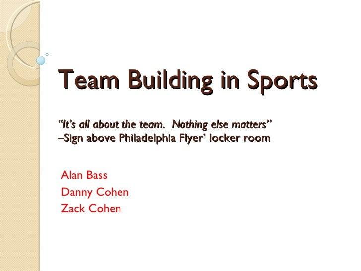 Team Spirit Essay Example