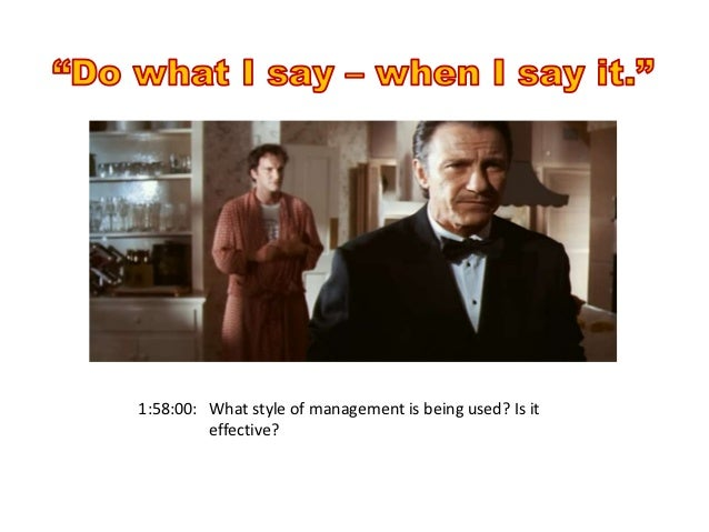 pulp fiction exploring management lessons