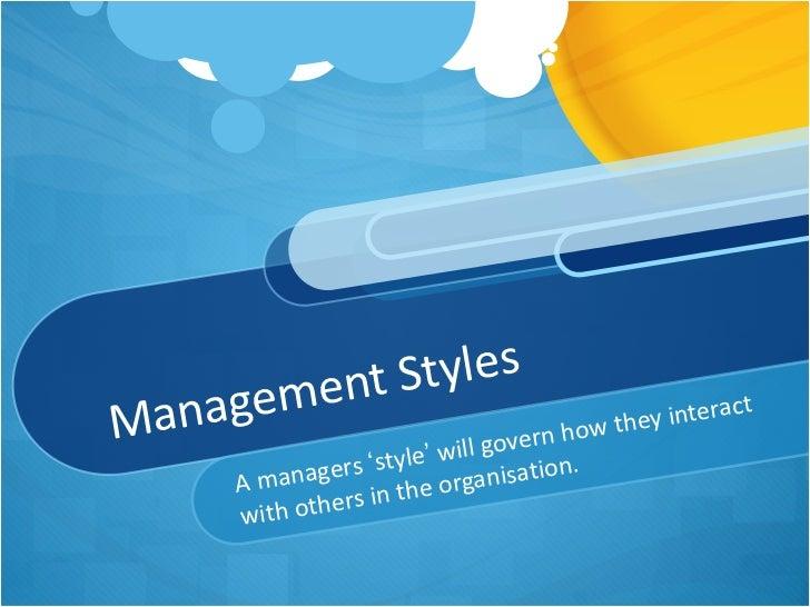 managment style