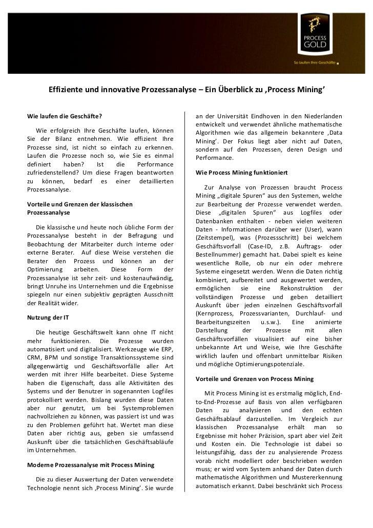 Effiziente und innovative Prozessanalyse – Ein Überblick zu 'Process Mining'         ...