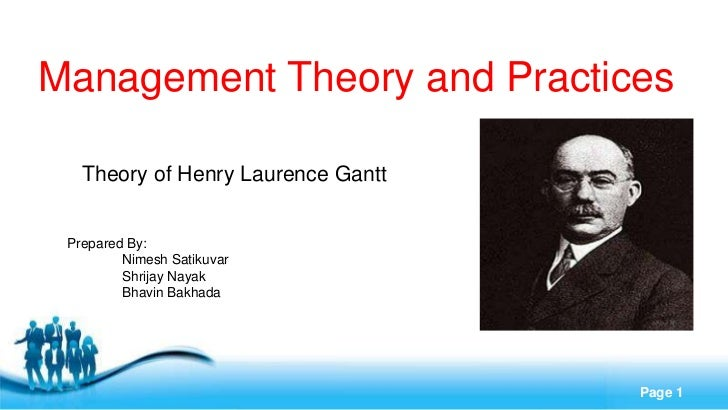 Management Theory and Practices   Theory of Henry Laurence Gantt Prepared By:         Nimesh Satikuvar         Shrijay Nay...