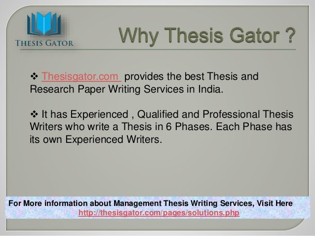 Dissertation writing services in India by academic writers
