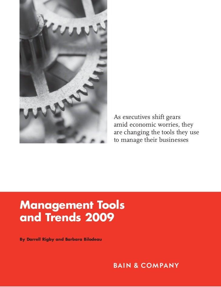Management Tools 2009