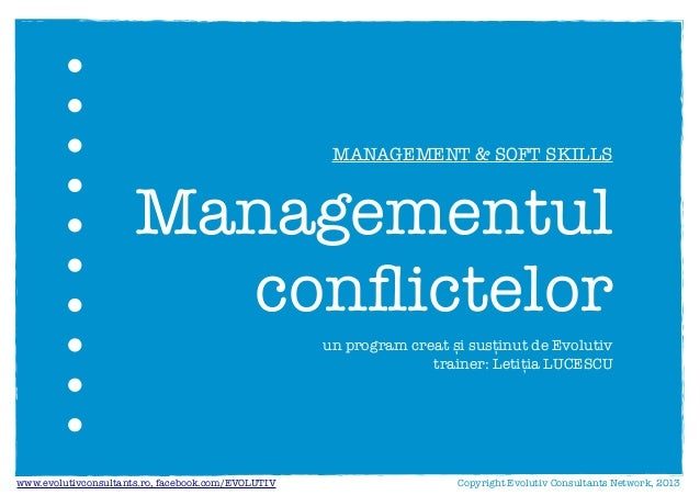 Managementul conflictelor - Evolutiv