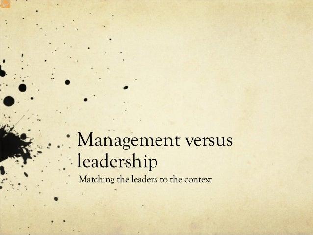 Management versus leadership 32pdf