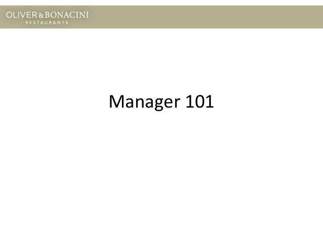 Manager 101