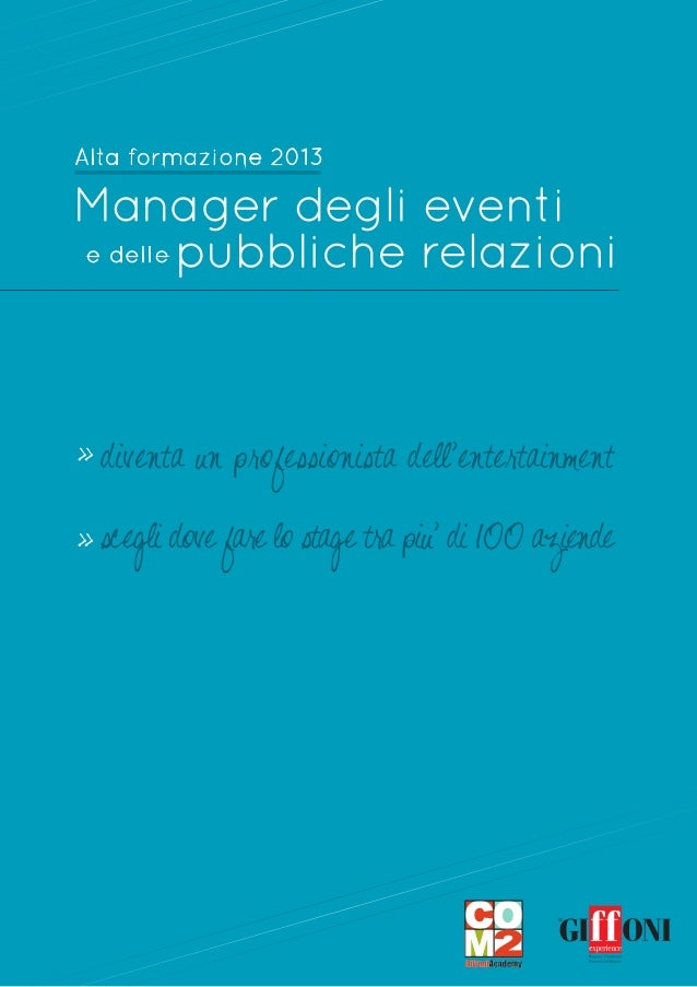 Manager eventi