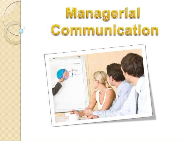 Managerial communication MCOM