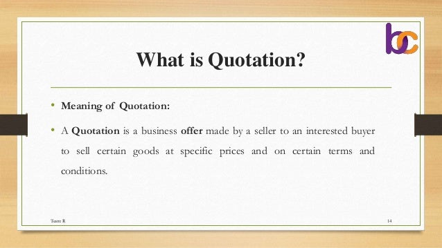 cover letter  quotations  tender  u0026 e