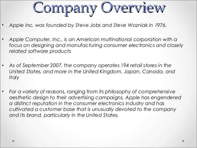 Research papers on companies