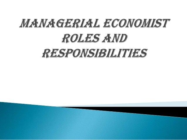 Managerial economist