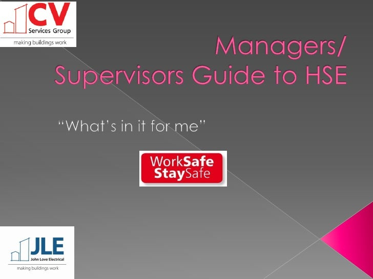 Managers Guide To HSW