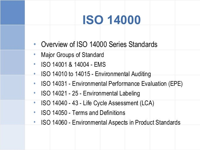 ISO 14001 Managers Training