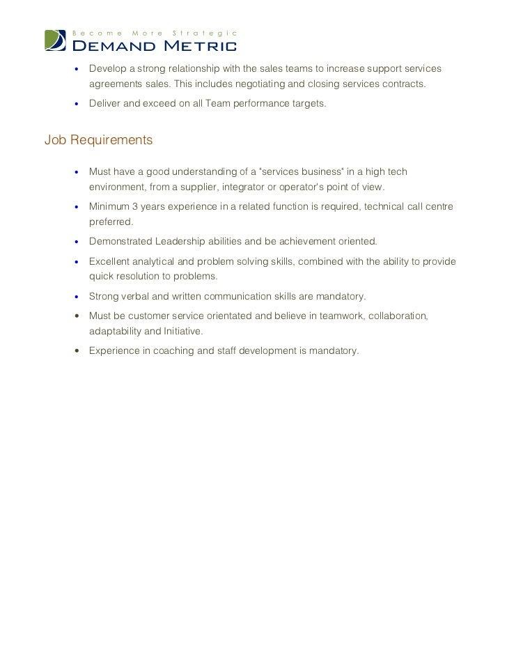 technical support representative cover letter manager job description