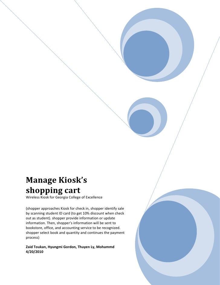 ManageKiosk's shoppingcart WirelessKioskforGeorgiaCollegeofExcell...