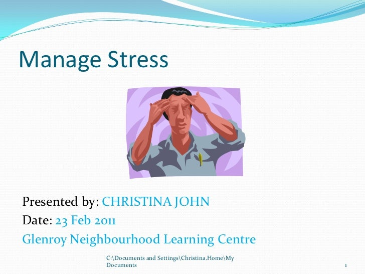 Manage stress  tae presentation