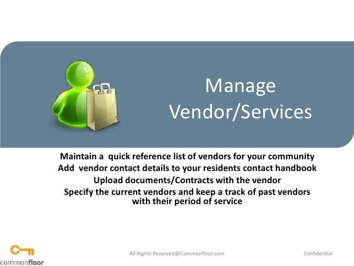How to Manage Vendor Services