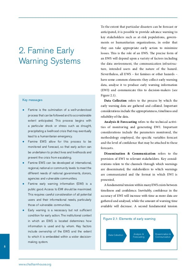 Early Warning Score System Famine Early Warning Systems