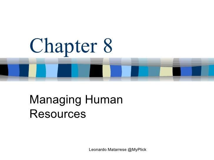 Managing HR - Leonardo Matarrese