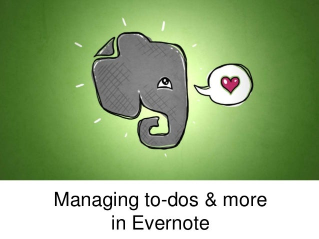 Managing to-dos & more in Evernote